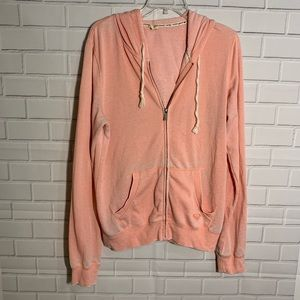 Roxy Hoodie Sweater Coral Pink Graphic